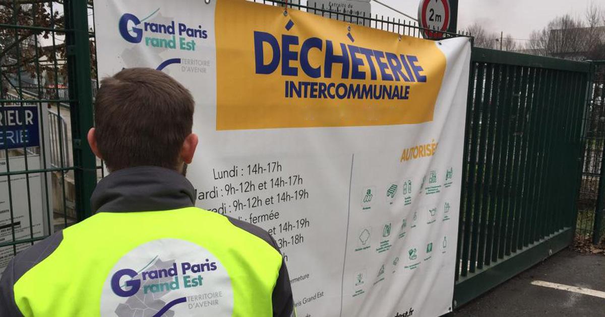 déchèterie du Grand Paris Grand Est