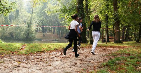 joggeuses dans le parc de la mairie
